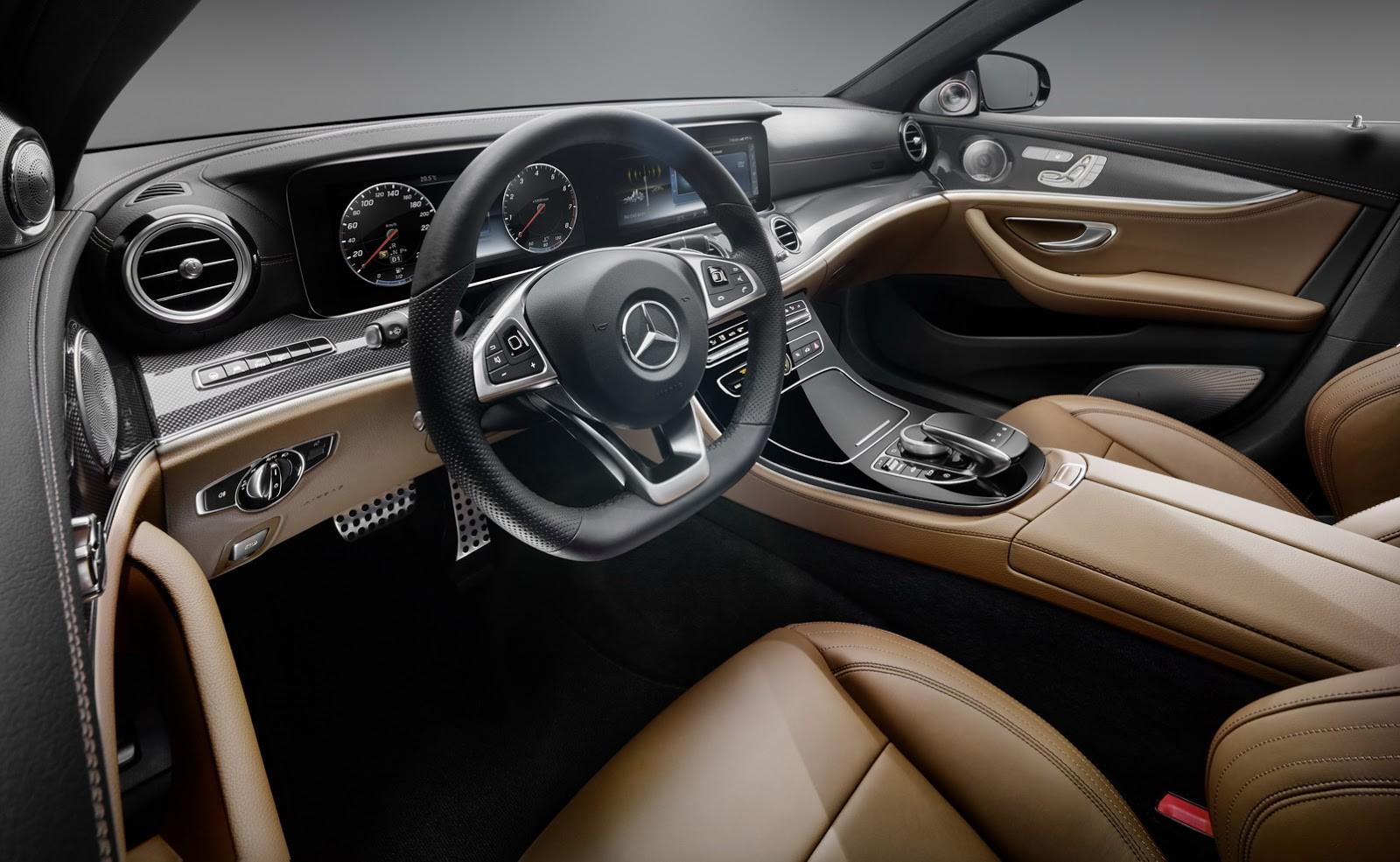 Mercedes показал интерьер нового E Class 2016
