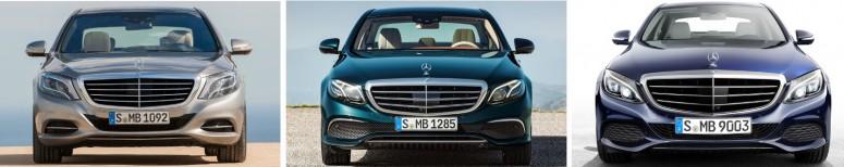 Насколько отличается стиль Mercedes C-, E- и S-Class