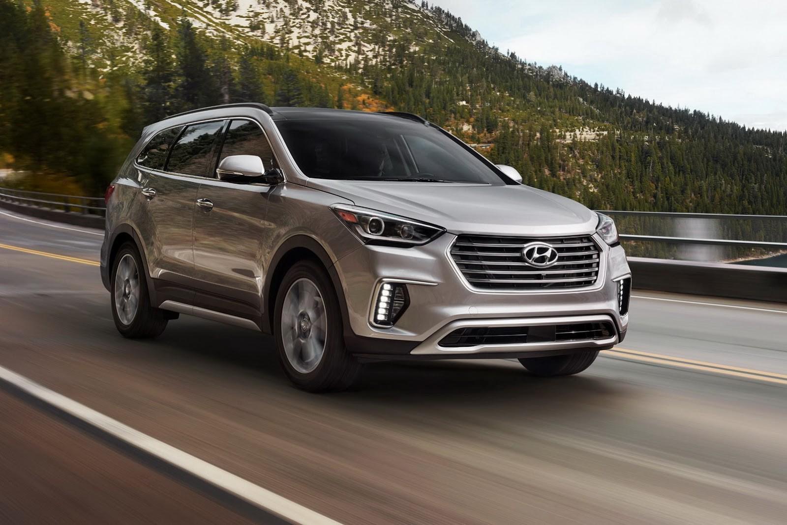 Чикаго 2016 обновленное 2017 Hyundai Santa Fe открыло свое лицо