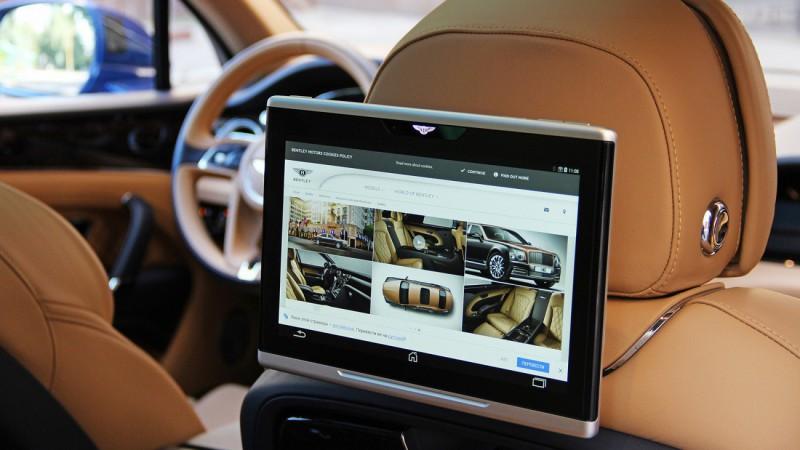 Планшеты в Bentley Bentayga стоят, как автомобиль