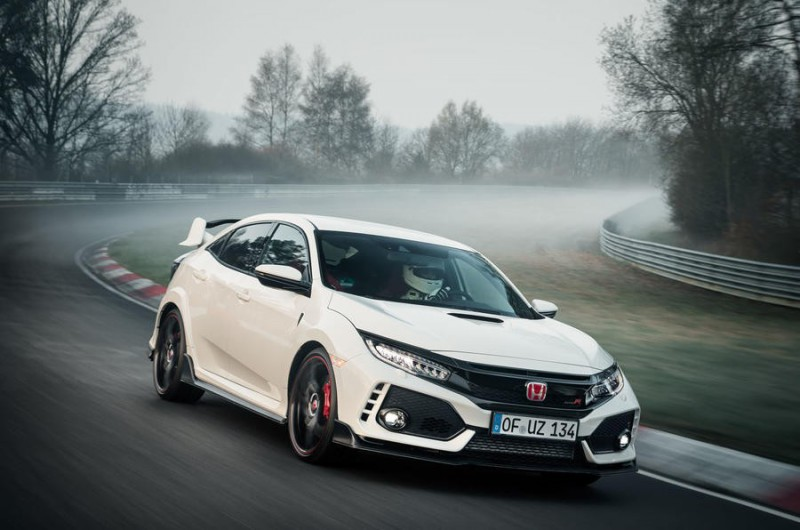 Новая Honda Civic Type R побила рекорд Нюрбургринга для передне-приводных авто