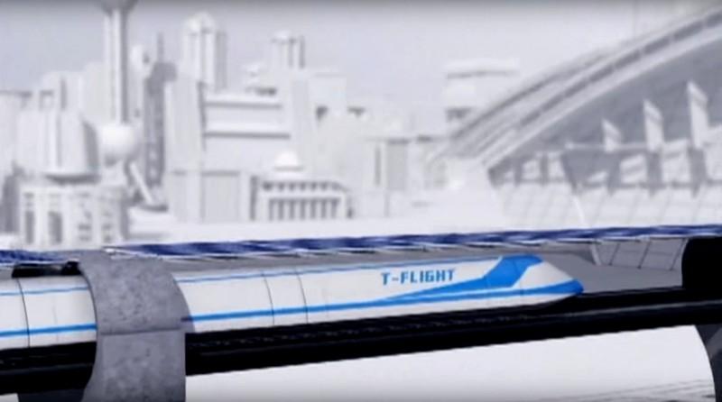 Китайский «Летающий поезд» собирается достичь 4 000 км/час