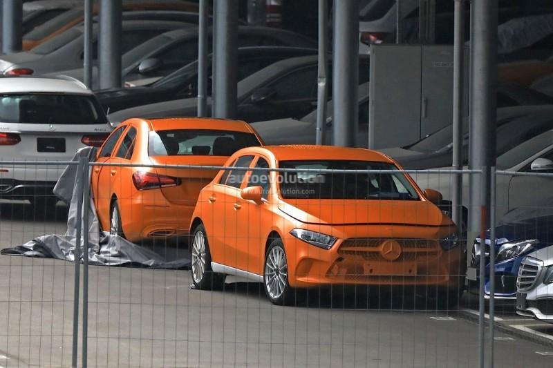 Новый 2018 Mercedes A-Class попался фотошпионам неприкрытым