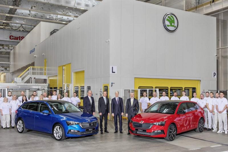 Первые автомобили Skoda Scala сошли с конвейера в Млада-Болеслав