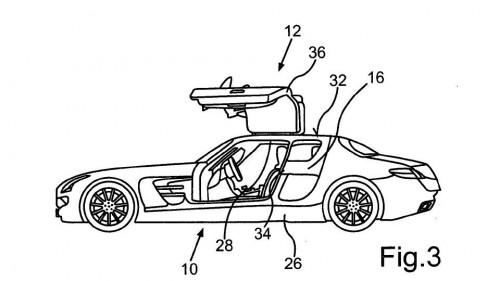 Mercedes патентует двери для «крылатого» четырехдверного SLS [фото]