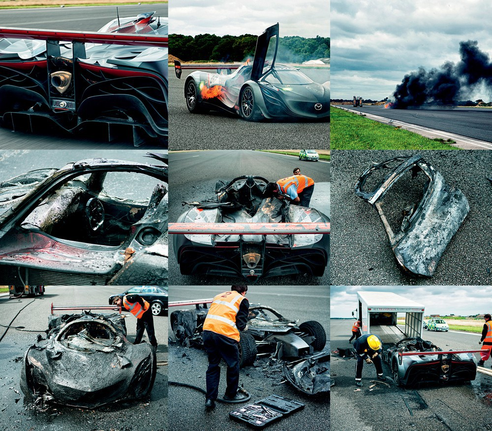 top gear сожгла единственную в мире mazda furai відео