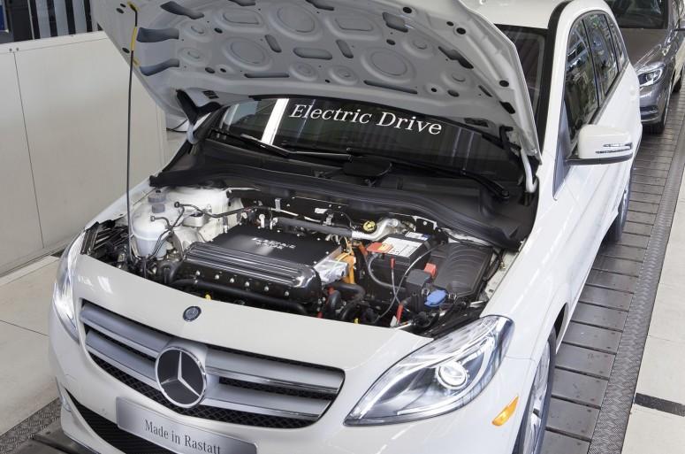 Mercedes поставил на конвейер электрокар B-class Electric Drive