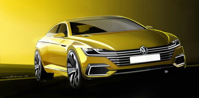 Volkswagen дражнить ескізом концепту наступного Passat CC